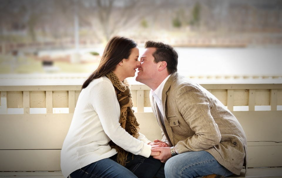 coe lake berea ohio engagement photography session