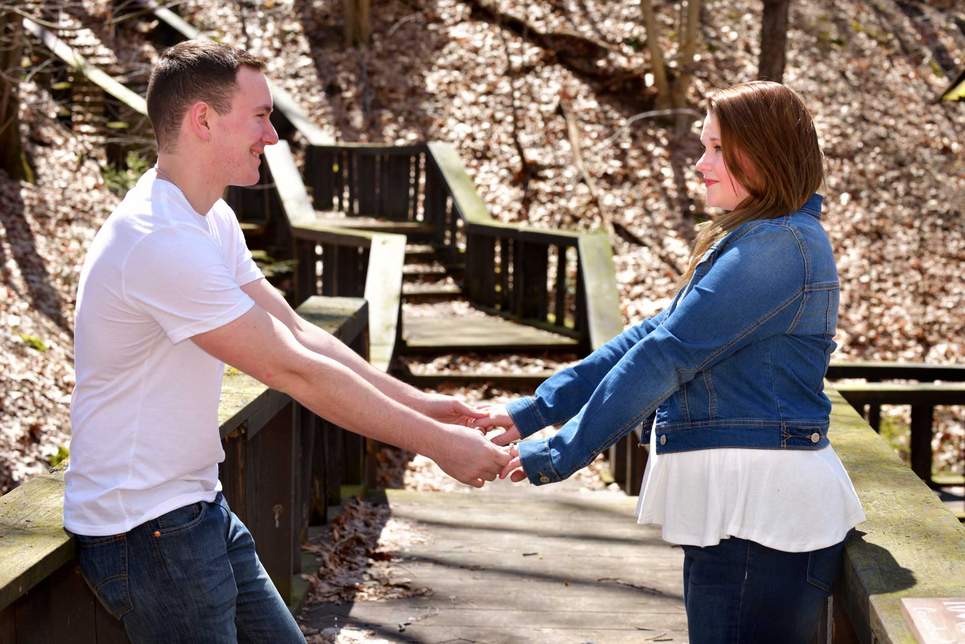 kent state engagement pics