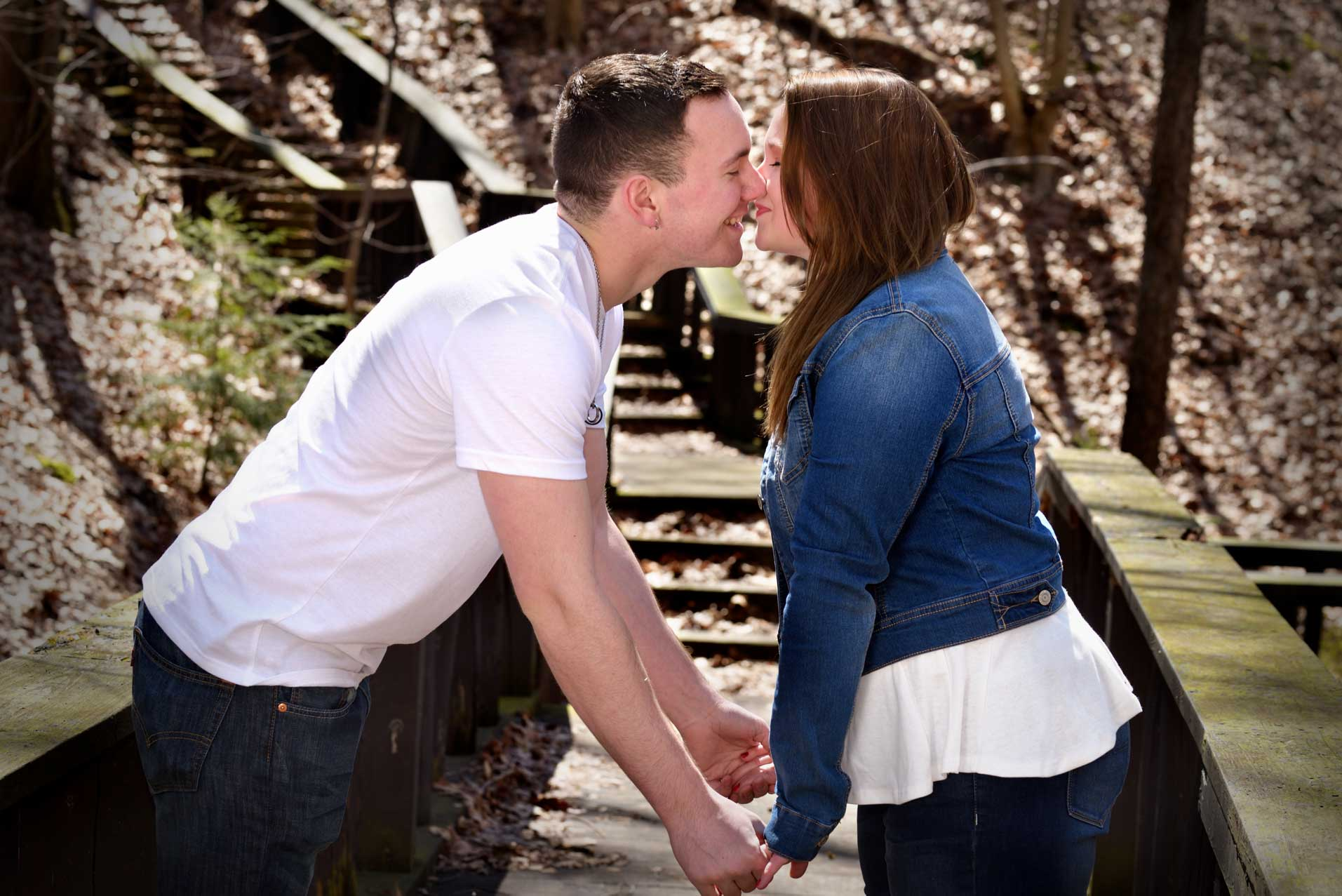 kent state park engagement shoot