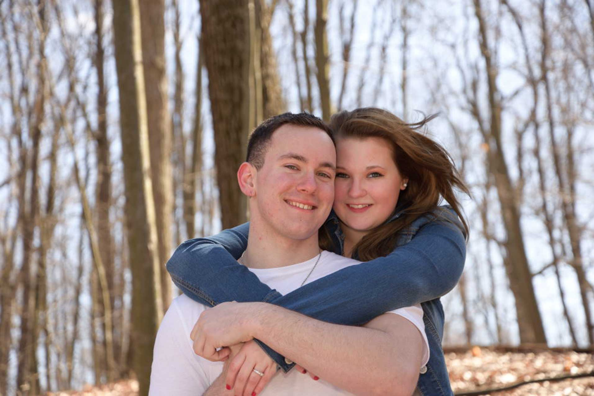 engagement session near kent ohio